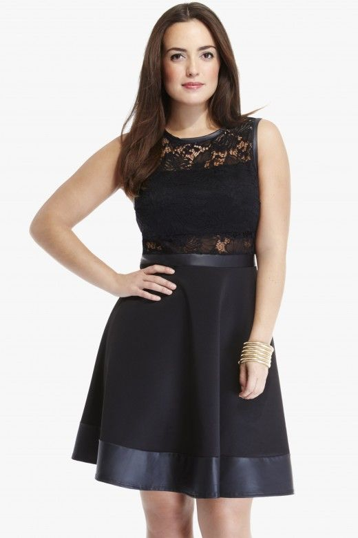 78d278cb4f55b Plus Size Delilah Lace Flare Dress