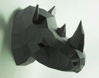rhino head papercraft pdf