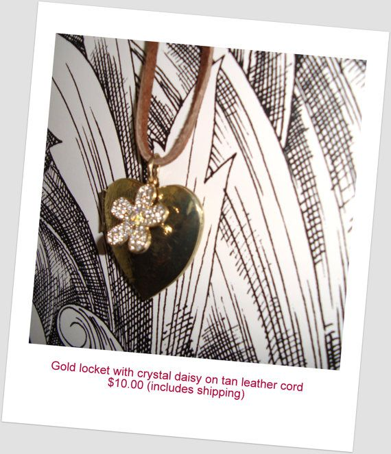 Gold Locket Necklace by TheImaginista on Etsy
