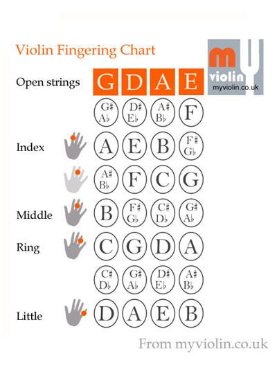 Violin Fingering Guide  Violin Plans