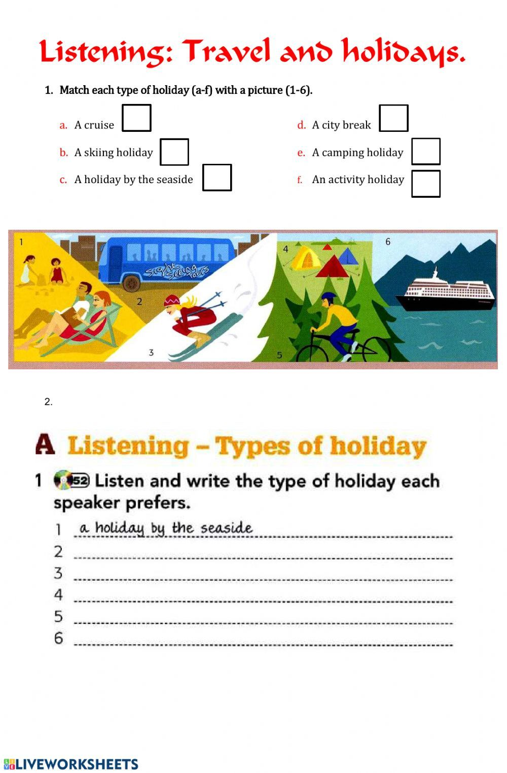 Travel And Tourism Interactive And Downloadable Worksheet You Can Do The Exercises On Holiday Worksheets Travel And Tourism English As A Second Language Esl [ 1524 x 1000 Pixel ]