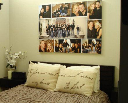 Canvas Family Wall Collage Ideas | Homemade Home Decor | Pinterest ...