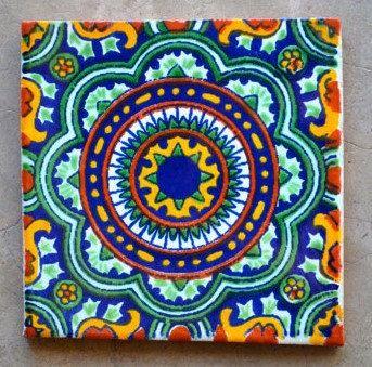 48 azulejos mexicanos 4x4 pulgadas por mexicantalavera en for Azulejo de talavera mexico