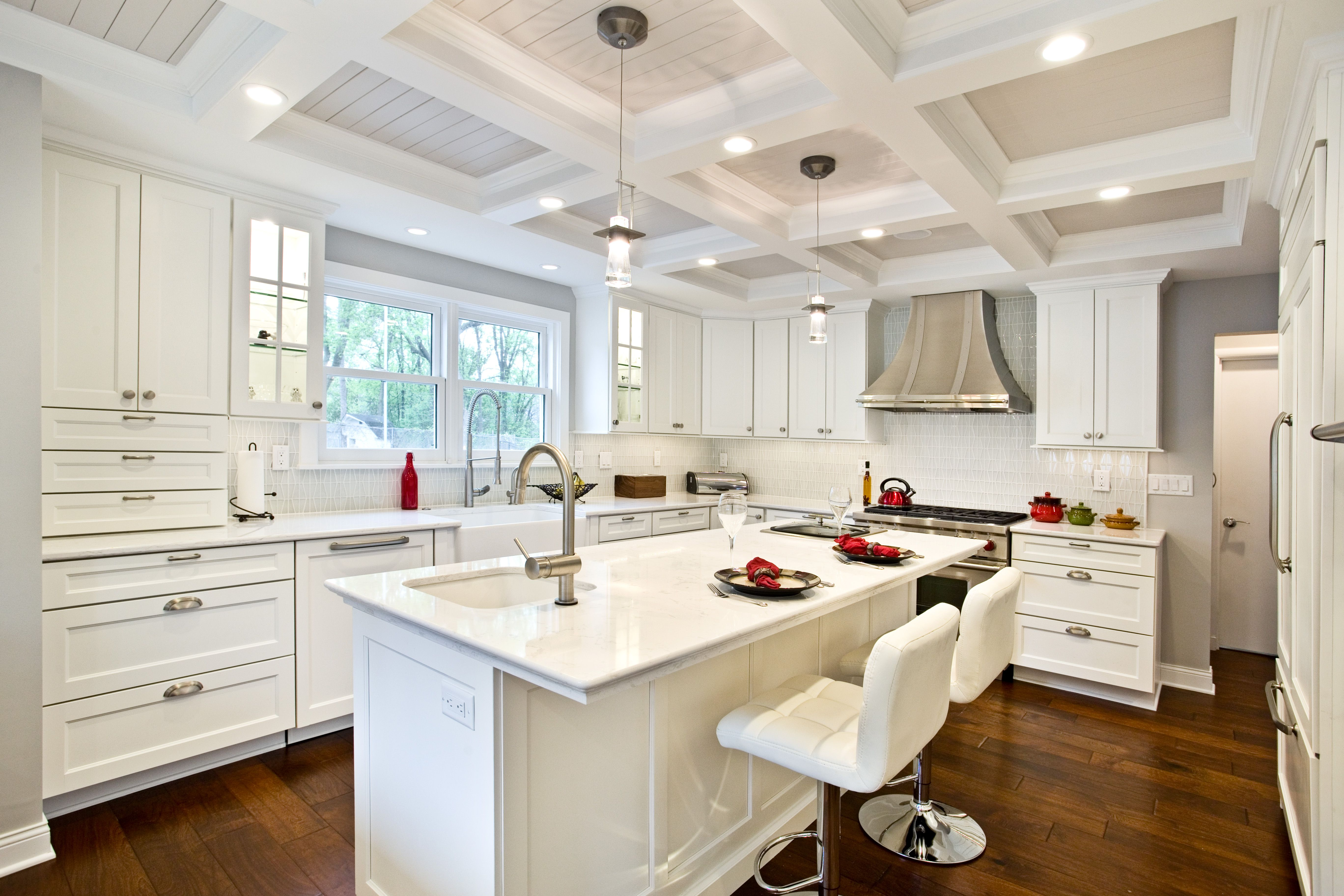 Love the clean look of a white #kitchen? Check out this #remodel ...