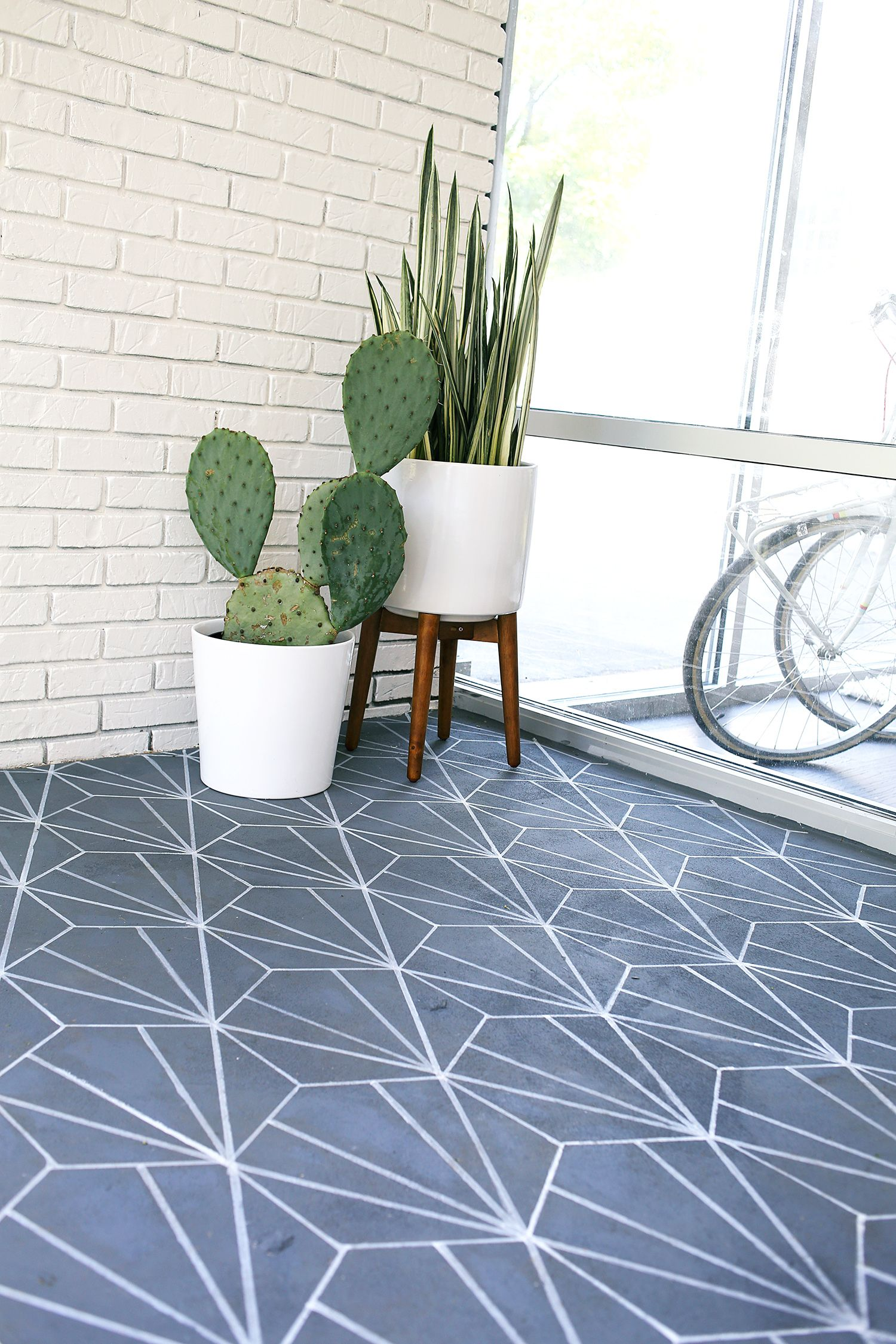Faux Cement Tile DIY Diy flooring, Stone tile flooring