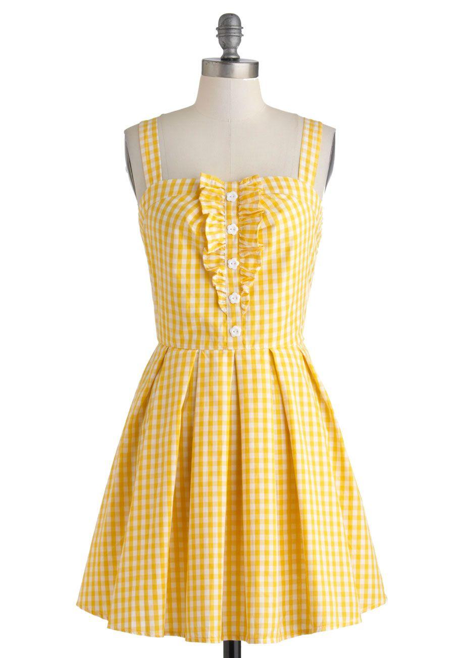 Lemonade To Order Dress Modcloth Retro Vintage Dresses Fashion Cute Dresses [ 1304 x 913 Pixel ]