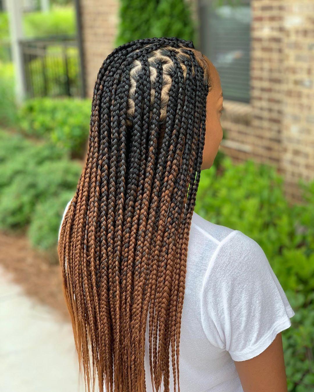 12++ Medium box braids mid back inspirations