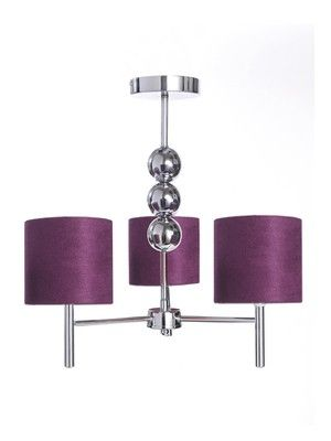 Faux suede 3 ball 3 way electrical ceiling light plum http www littlewoods com faux suede 3 ball 3 way electrical ceiling light plum 969086696 prd