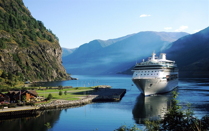 Download Wallpapers Legend Of The Seas Cruise Ship Fjord Mountains Norway Besthqwallpapers Com Legend Of The Seas Norway Cruise Cruise Ship