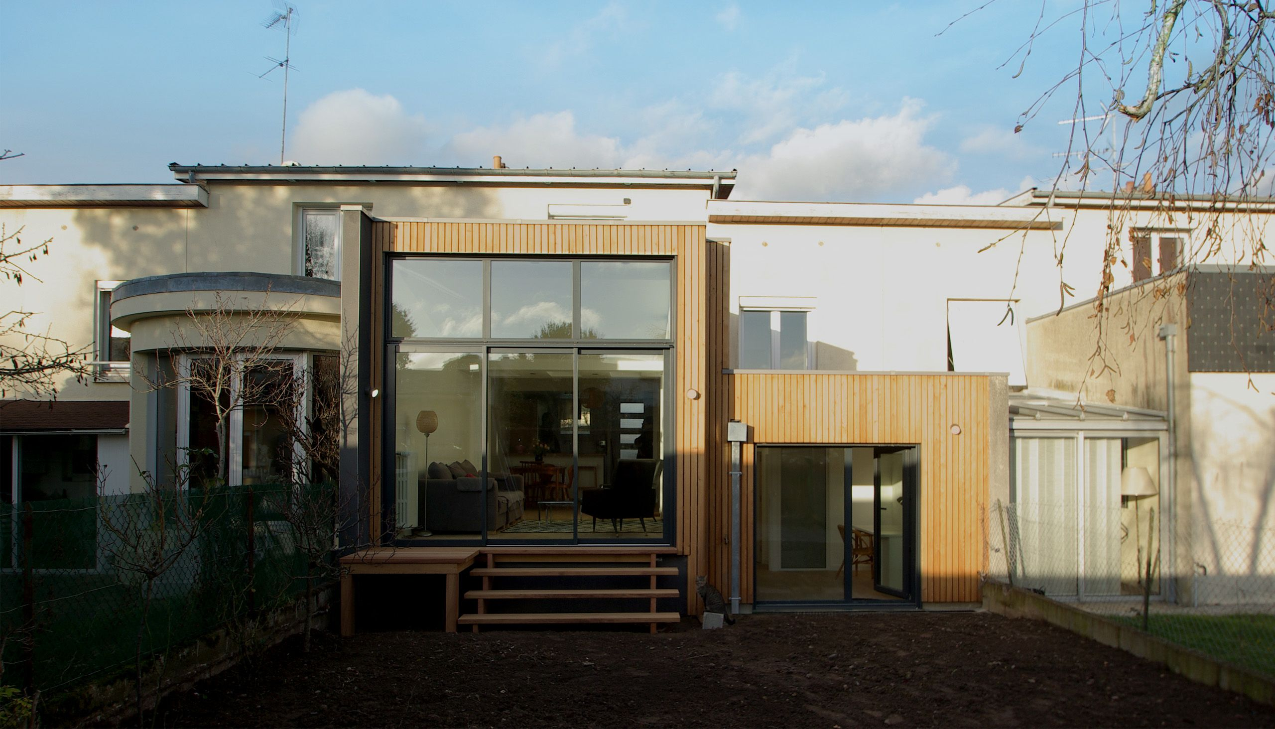 Rénovation et extension d\'une maison de ville, Rennes, Ille-et ...