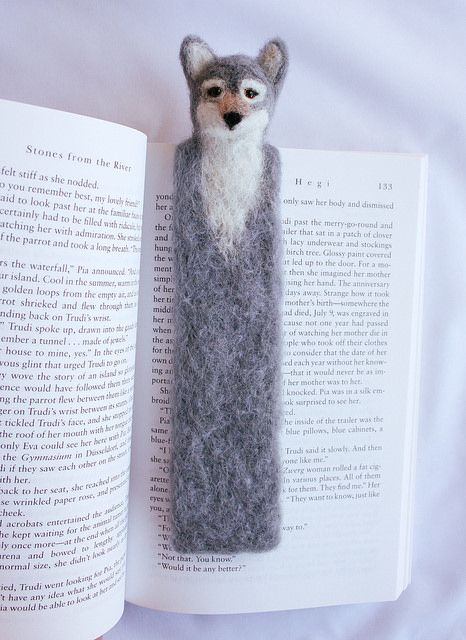 Wolf bookmark finished :) by Whimsical Tails, via Flickr