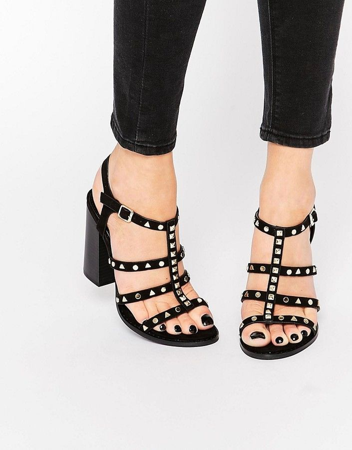 3eea5067b73 Call it Spring Call It Spring Perren Chunky Studded Heeled Gladiator Sandal