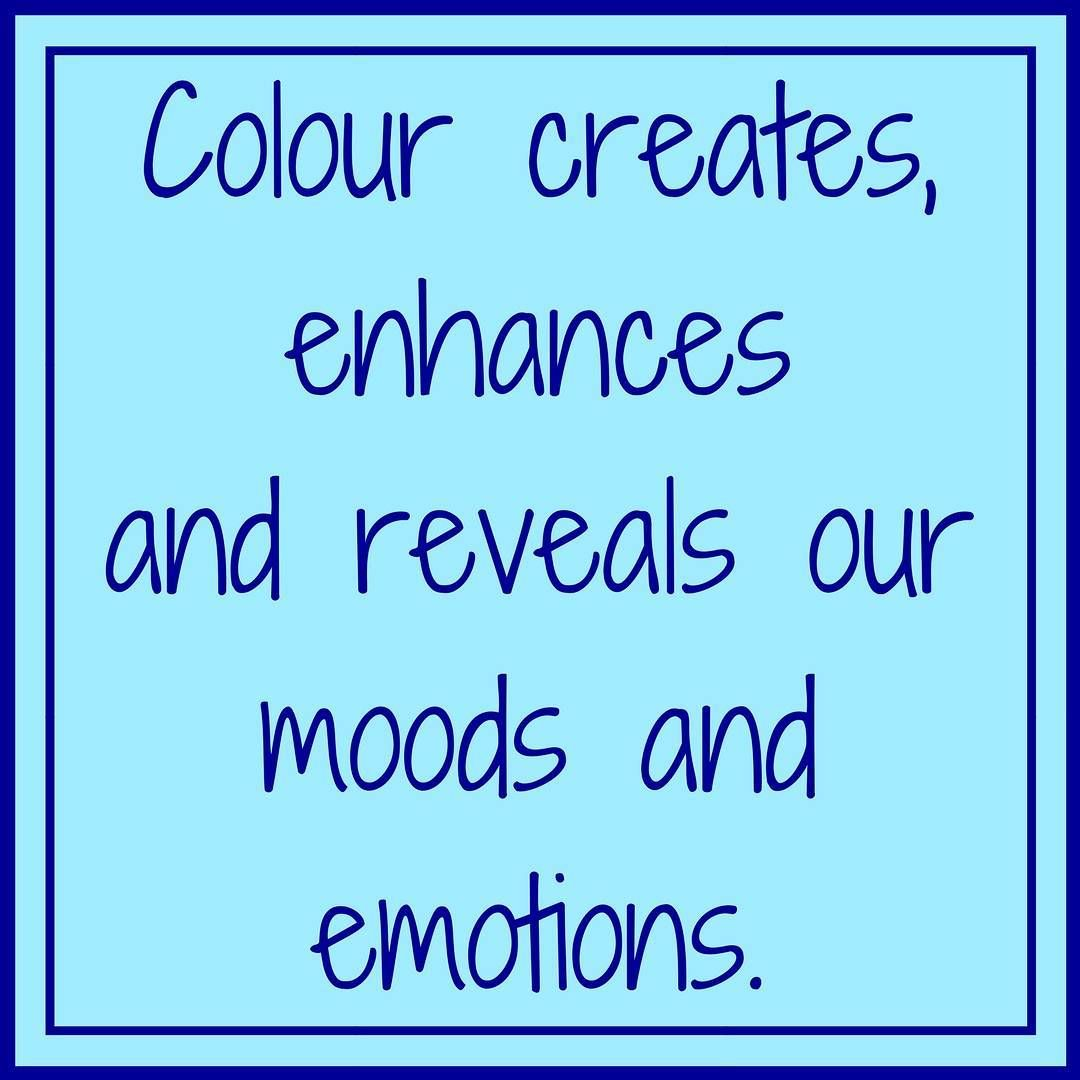 This quote is great as it sums up just how meaningful colours really ...