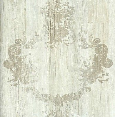 Vlies Tapete 46521 Antik Holz Ornament Beige Braun  Royal Wood Design Elements