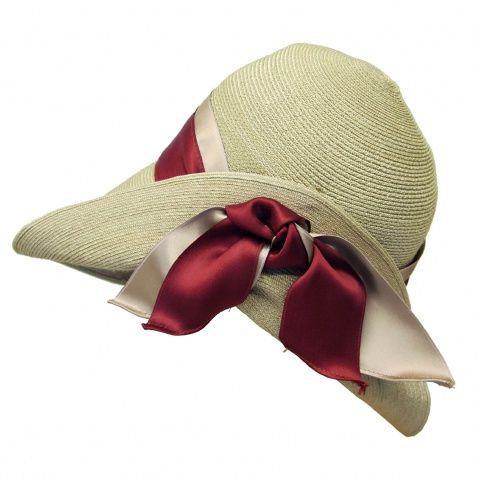 Cappello da donna, treccia maglina e nastri, Memar srl, Firenze.