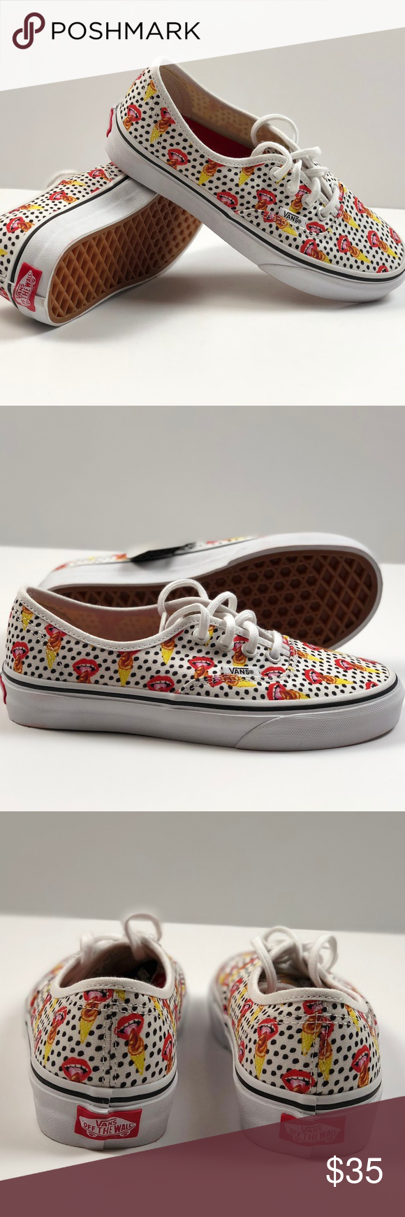 ea7648521d Vans Authentic Kendra Dandy I Scream True White. Vans Authentic Kendra Dandy  I Scream True White Ankle High Canvas Skateboarding Shoes.