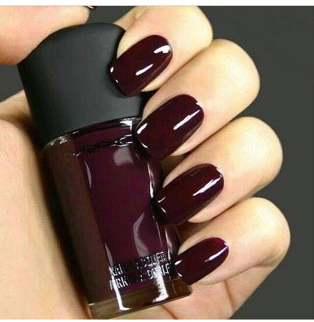 Deep Nail Polish | Pedicure Toes & Nails | Pinterest | Maroon nail ...