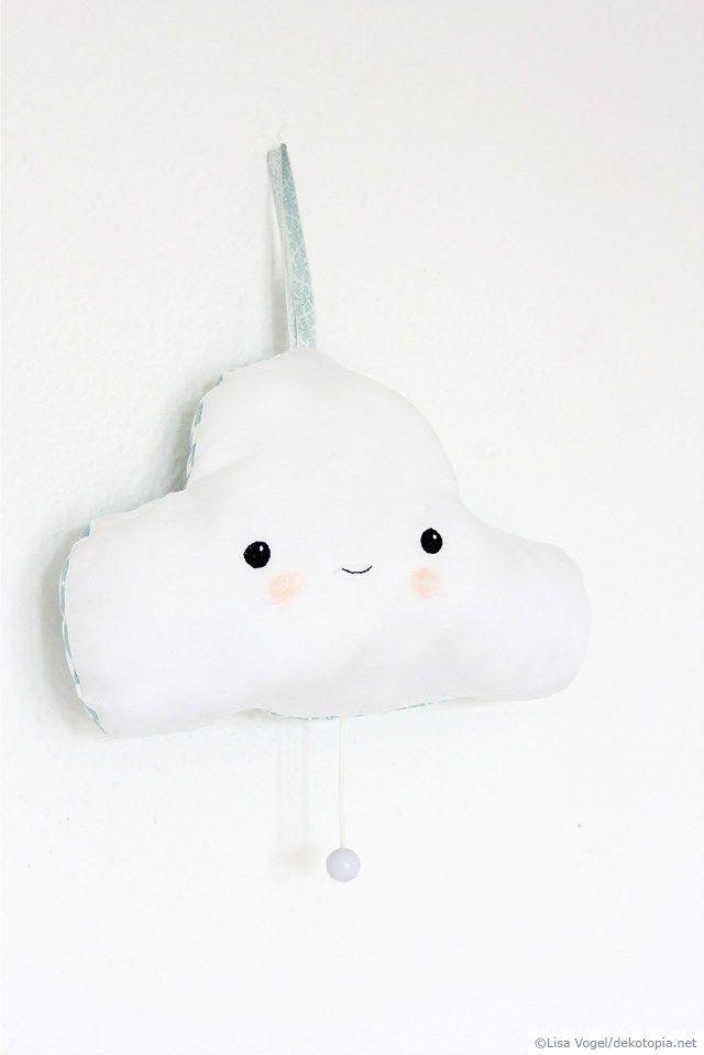 Meine Kleine Wolke Spieluhr Aus Stoff Nähen Sewing