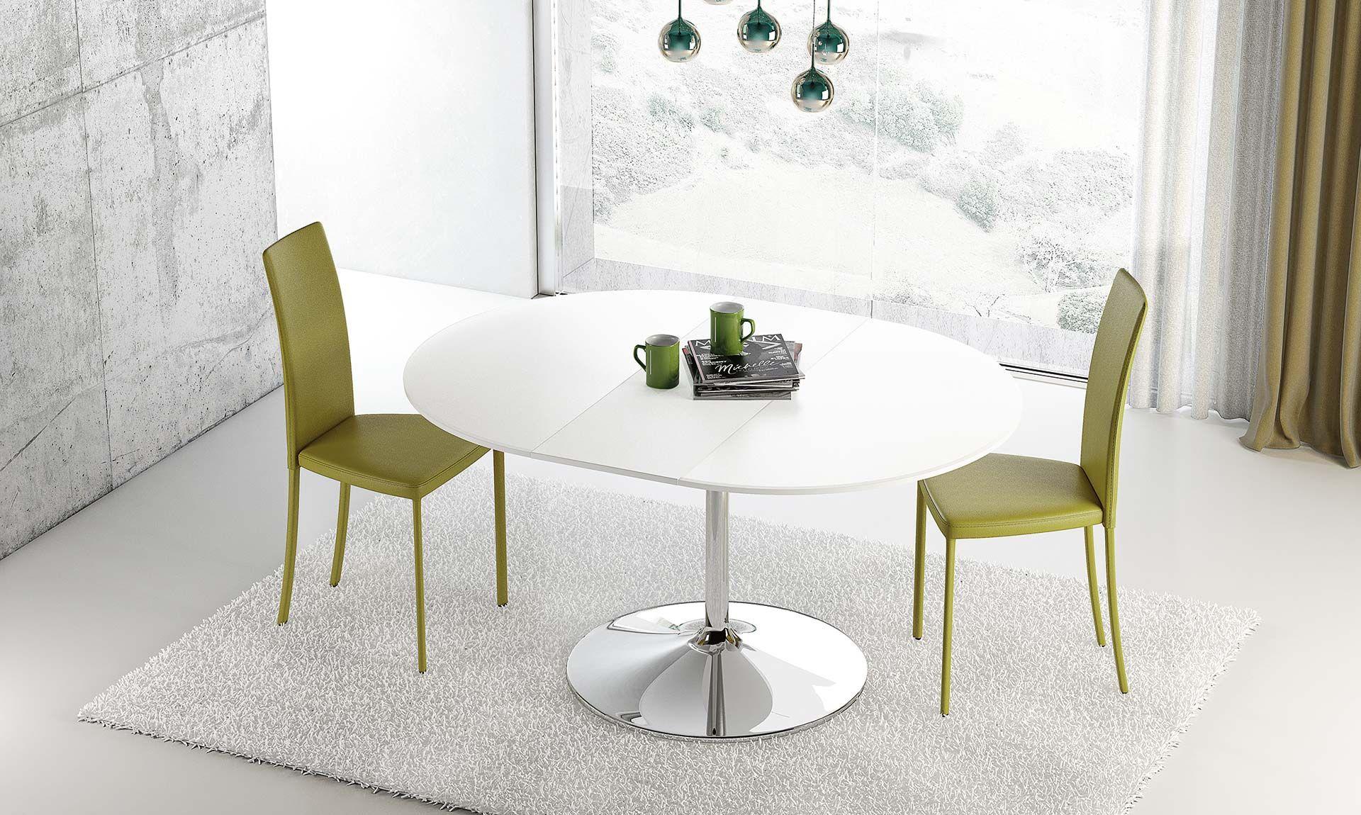 Tavolo tondo Small Small è un piccolo tavolo allungabile con base in ...