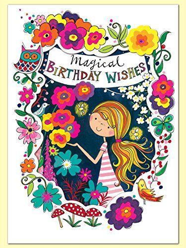 Rachel Ellen Midnight Garden Birthday Card Amazoncouk Office Products