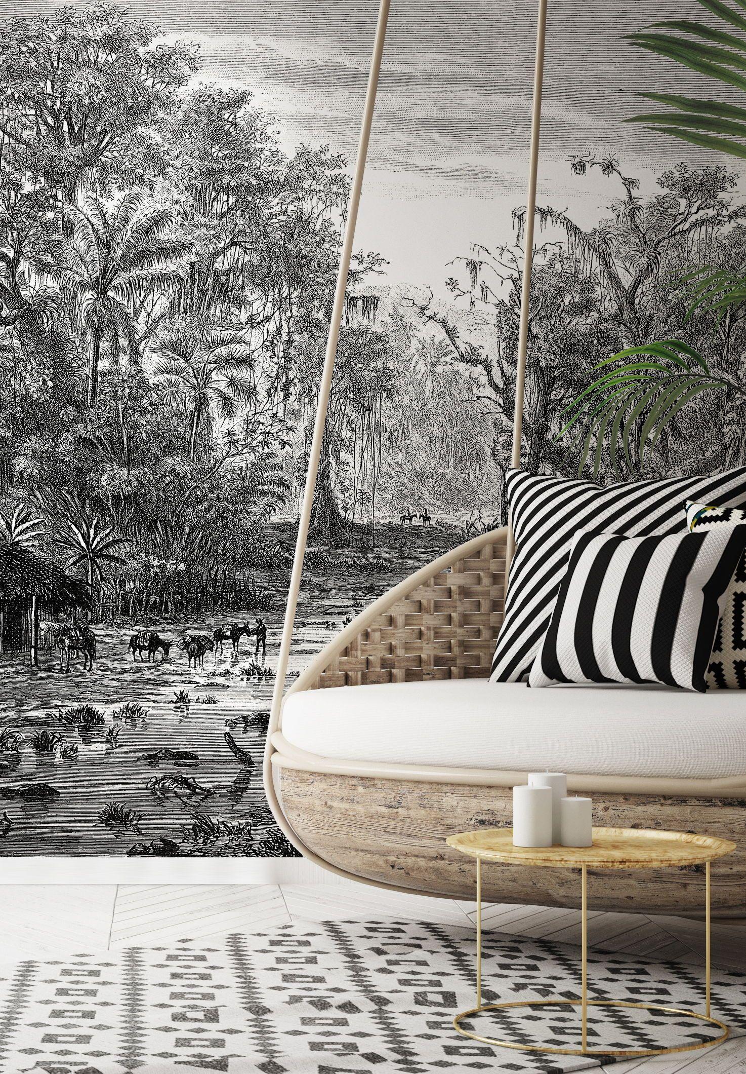 Jungle Wallpaper & Wall Murals Wallsauce US in 2020
