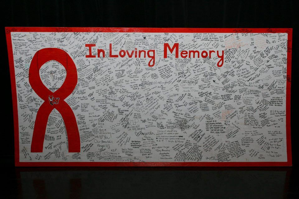 Students worked together to remember Kerry, Eva and Kevin. Rest in Peace our Marist angels.