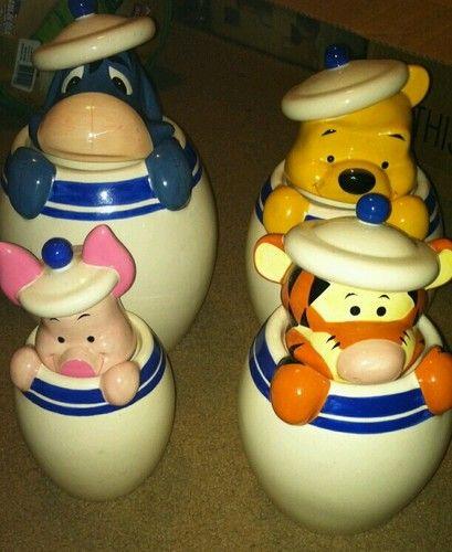 Winnie The Pooh Cookie Jar Set Disney Cookies Cookie Jars Jar