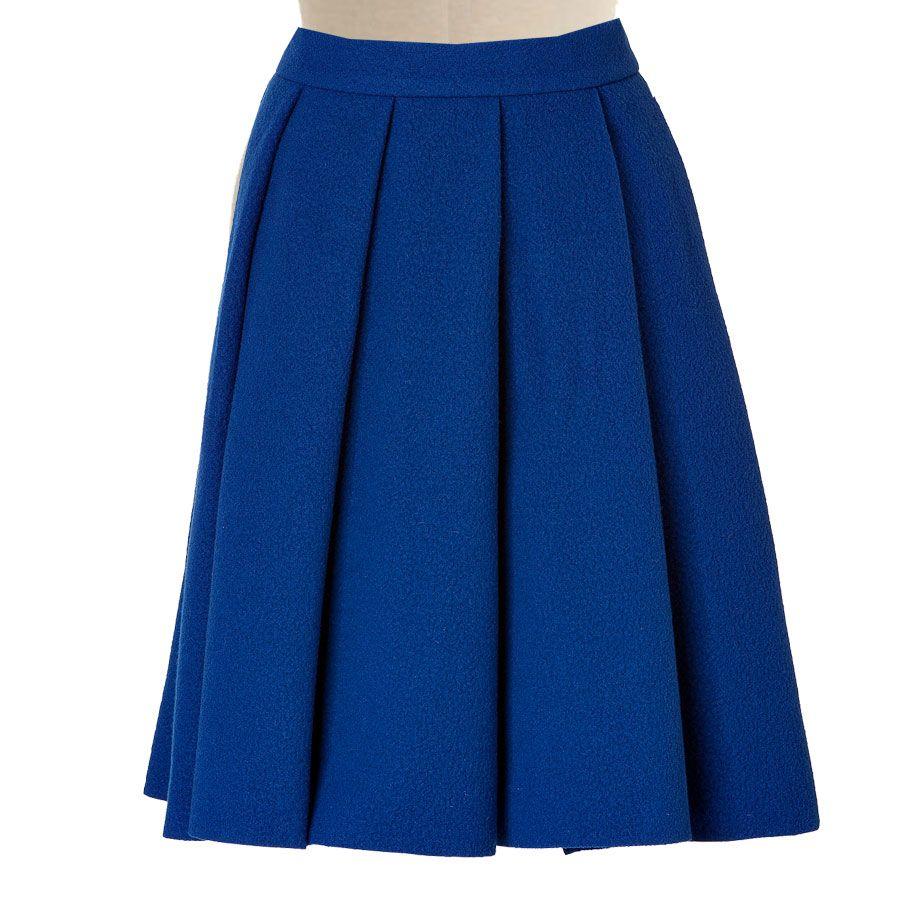 08dd47ee06e Royal Blue Pleated Skirt – Elizabeth s Custom Skirts