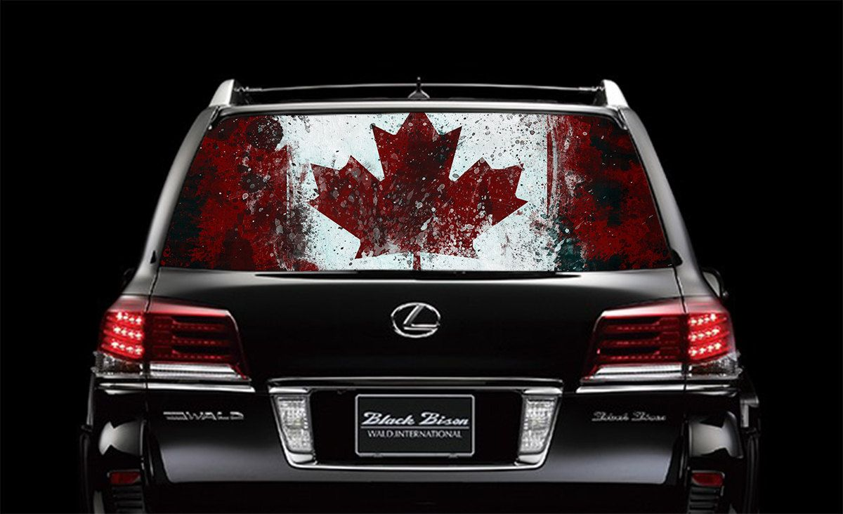 Perfik Full Color Print Perforated Film Truck SUV Back Window - Rear window decals for trucks canada