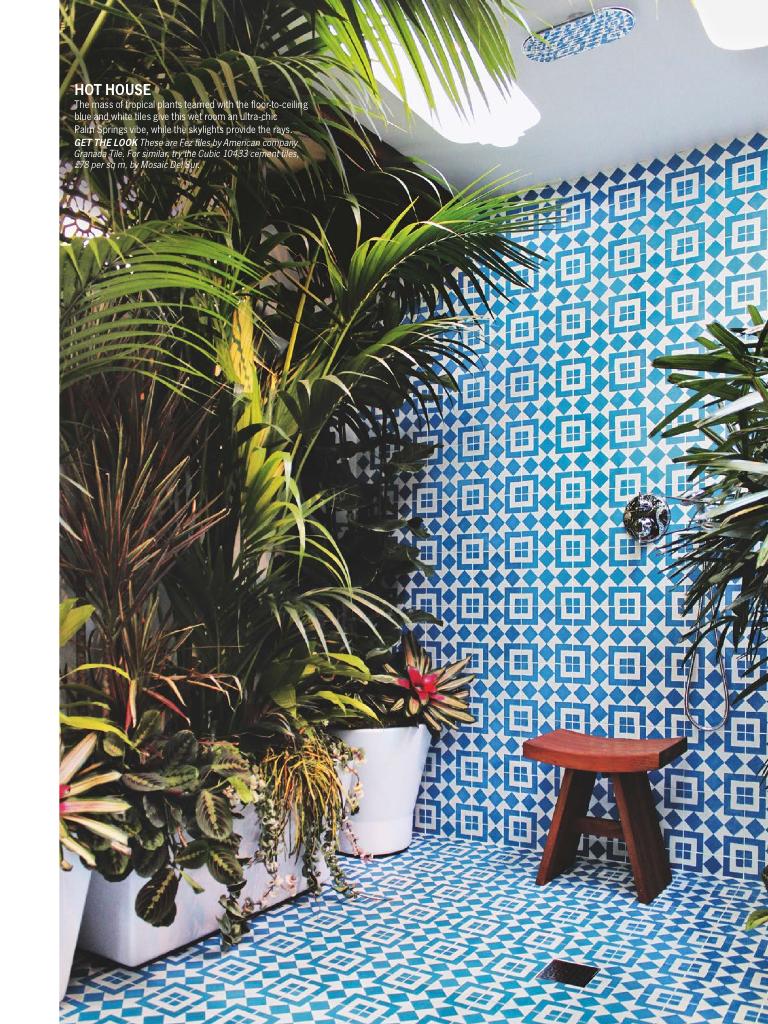 African tiles bathroom - Granada Tile Fez Cement Tile As Bathroom Floor Tile And Bathroom Wall Tile As Seen In