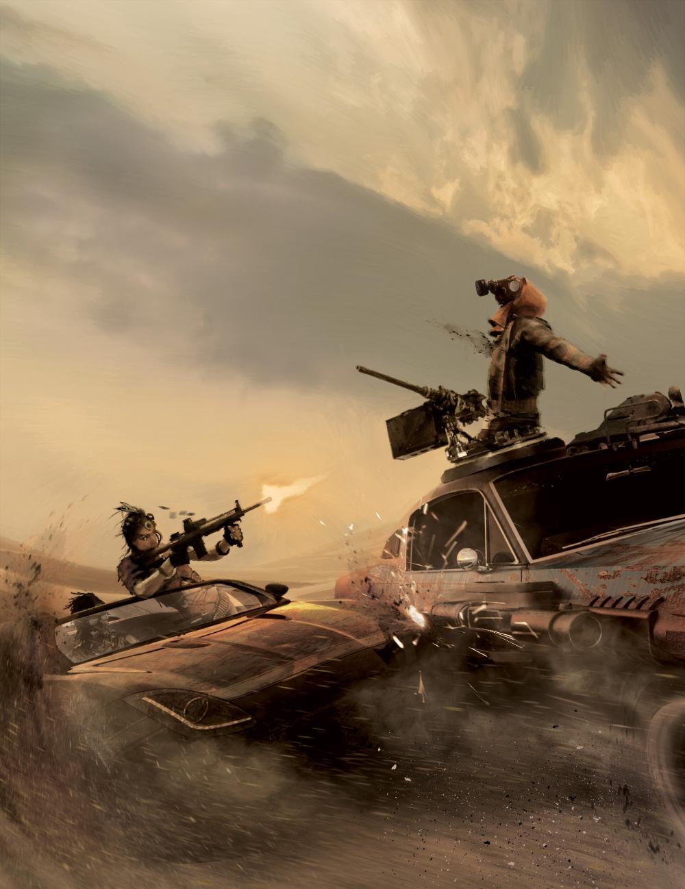 ArtStation Nomads Desert Assault. Cyberpunk RPG R