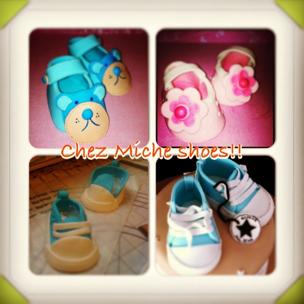 Fondant shoes, cake toppers!!