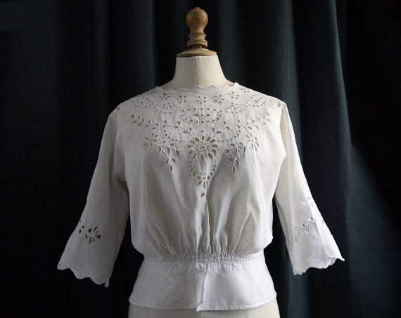 antique white shirt elbow sleeves linen and embroideries. Black Bedroom Furniture Sets. Home Design Ideas