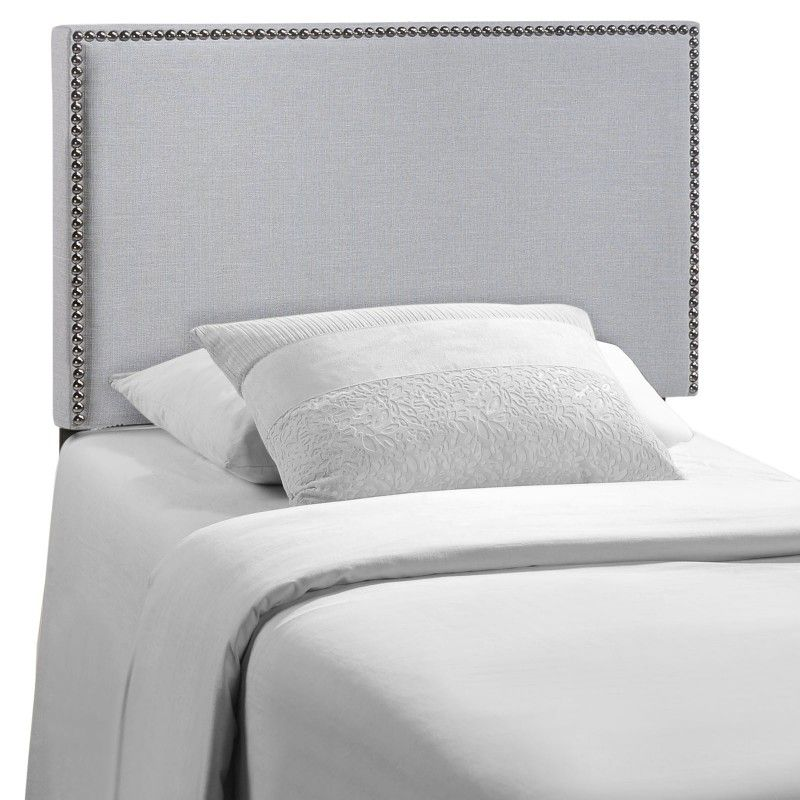 Region Twin Nailhead Upholstered Headboard Sky Gray Nailhead Headboard Twin Upholstered Headboard Upholstered Headboard