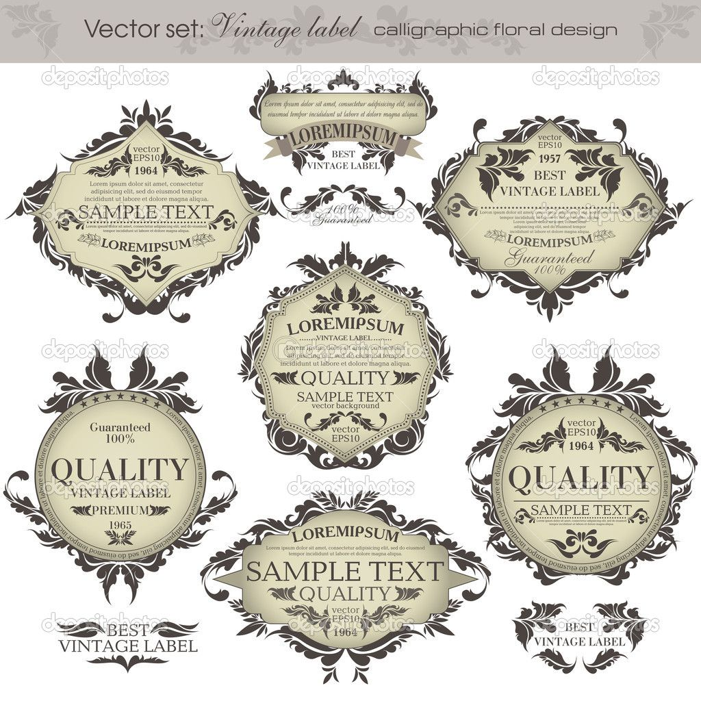 vintage antique labels