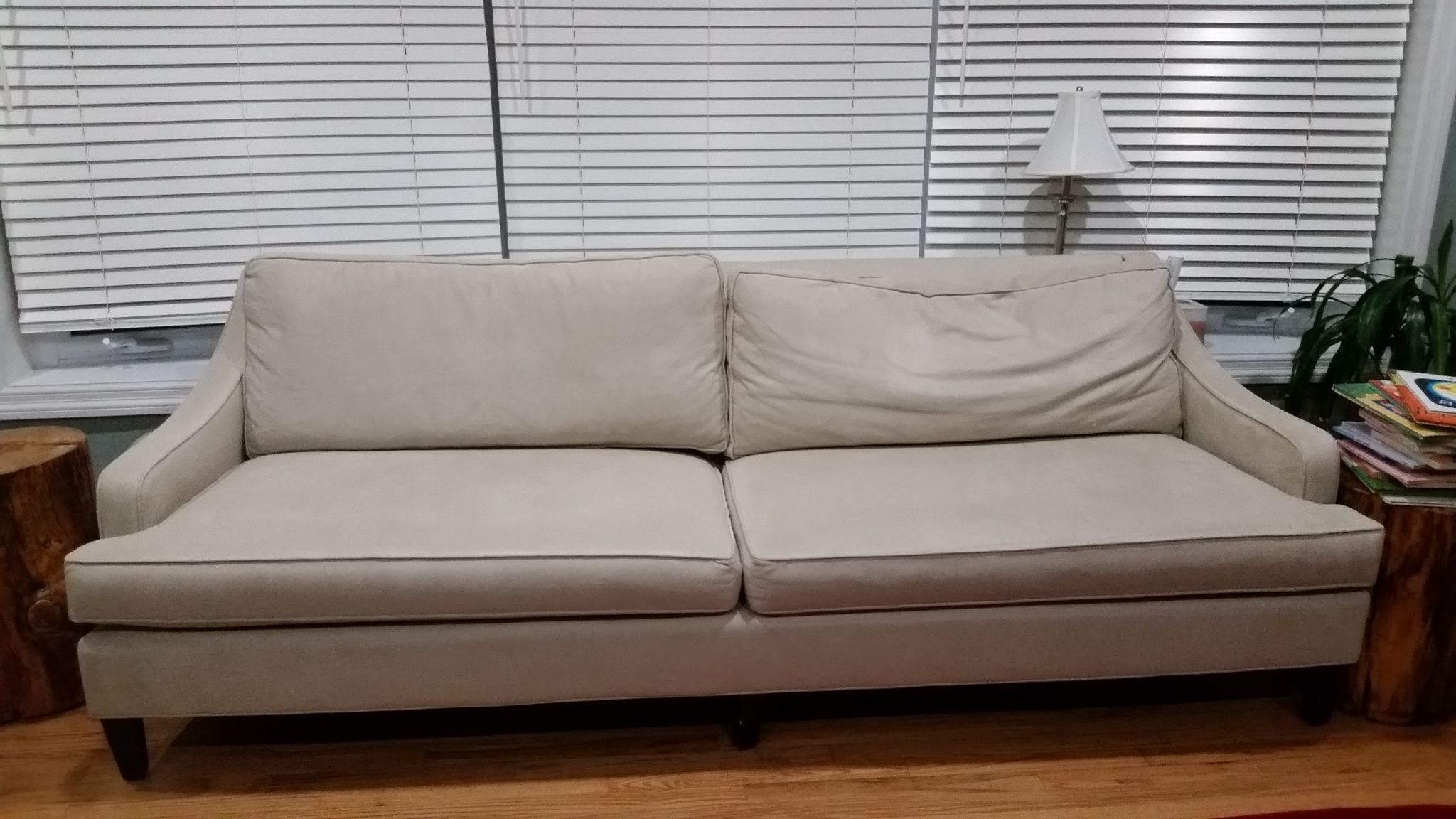 """PotteryBarn reviews. """"Overpriced sofa with a defect but"""