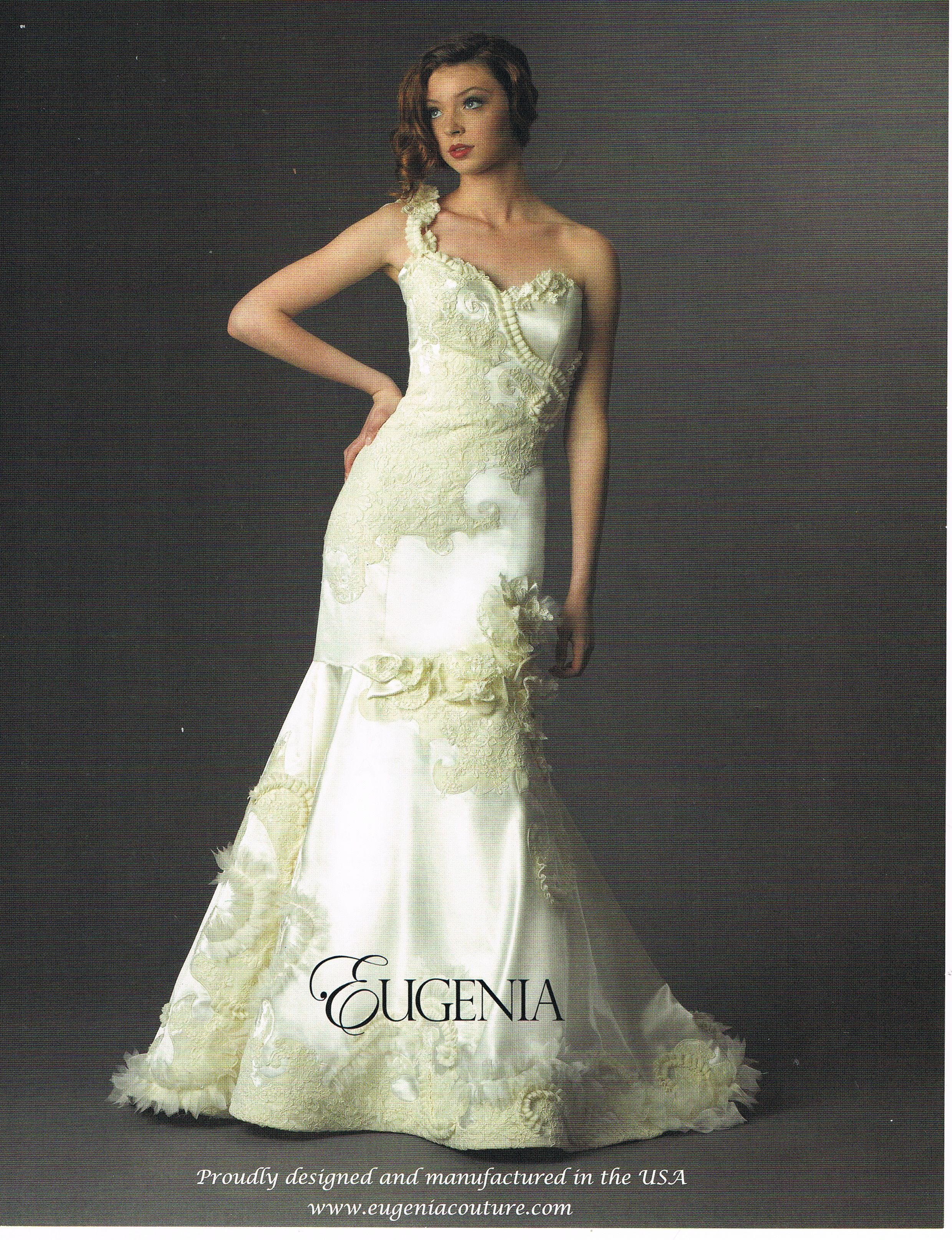 Burlap Wedding Dress Eugenia Couture One Shoulder Fit N Flare
