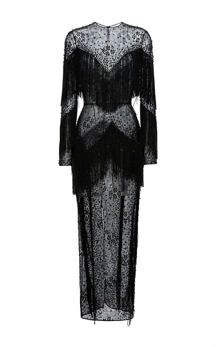 Long Sleeve Fringe Dress Moda Operandi Dresses Fringe Dress Fashion [ 1200 x 750 Pixel ]