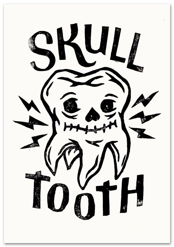 Skull tooth #typography #weird #illustration