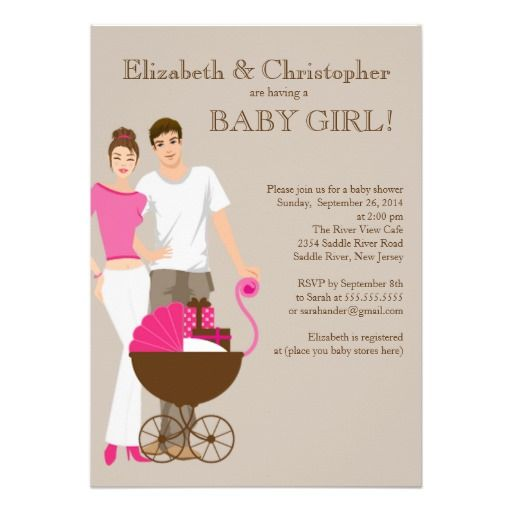 Modern Mom Dad Carriage Couple Baby Shower Invitation Zazzle Com Couples Baby Shower Invitations Carriage Baby Shower Invitations Baby Shower Invites Neutral