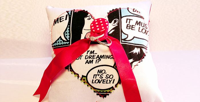 Etsy Finds: Comic Book Ring Pillow