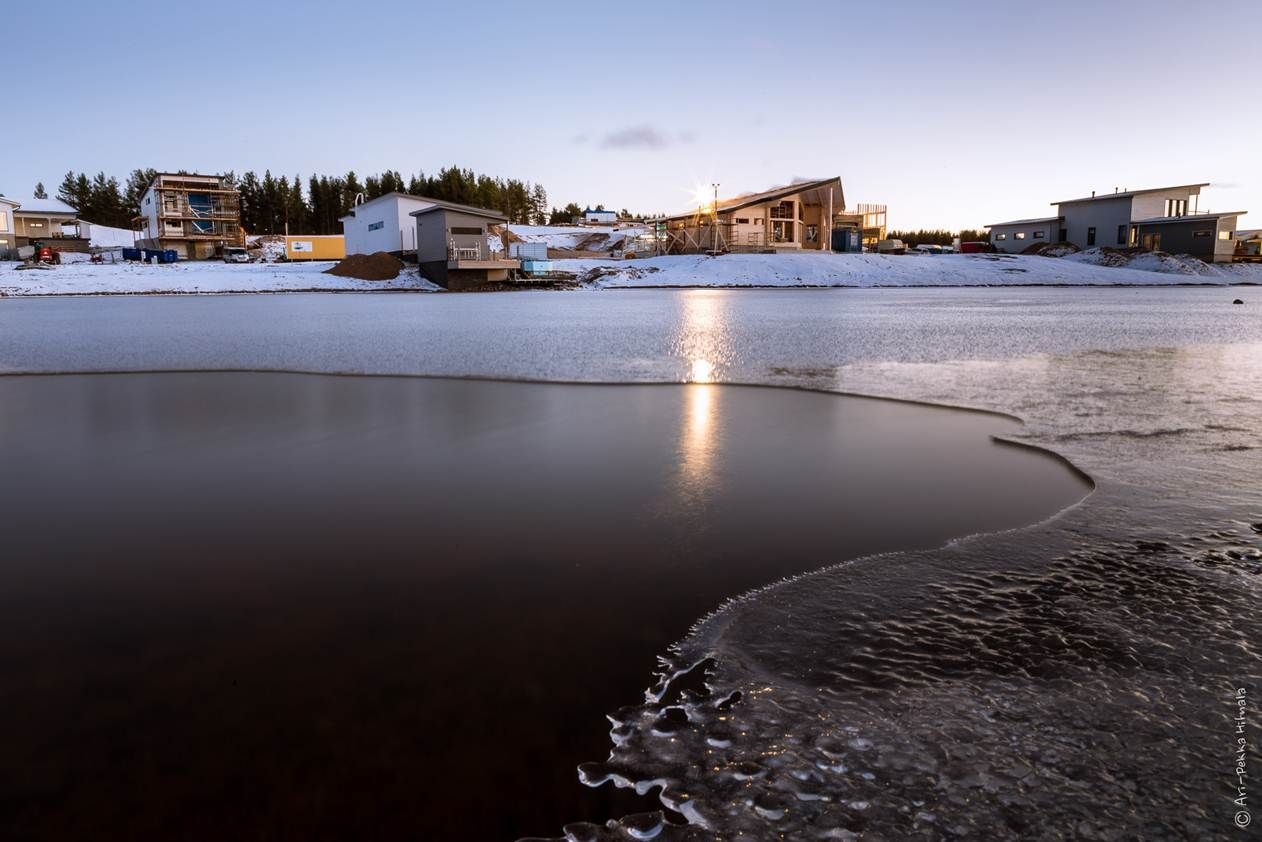 Holiday Home Fair in January, very cold! Kalajoen Loma-asuntomessualue tammikuussa, kylmä on! Photo by Ari-Pekka Hihnala