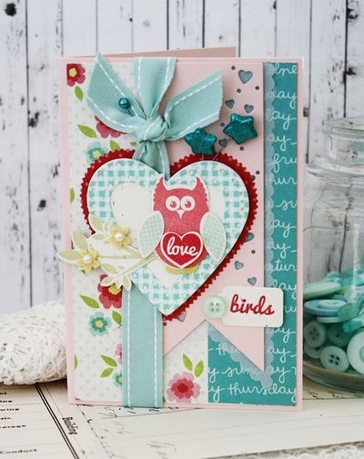 Love Birds Card by Melissa Phillips for Papertrey Ink (December 2013)