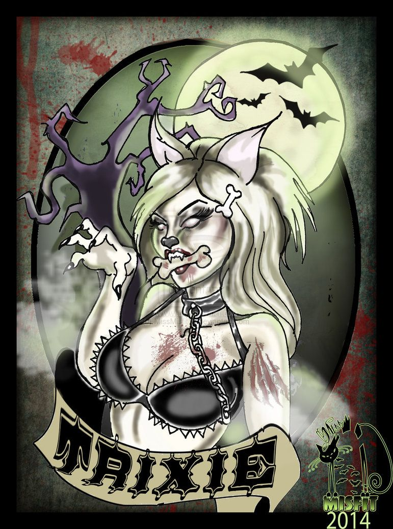 a8aae149c Trixie The werewolf pin up by MissMisfit13 on deviantART | Horror ...