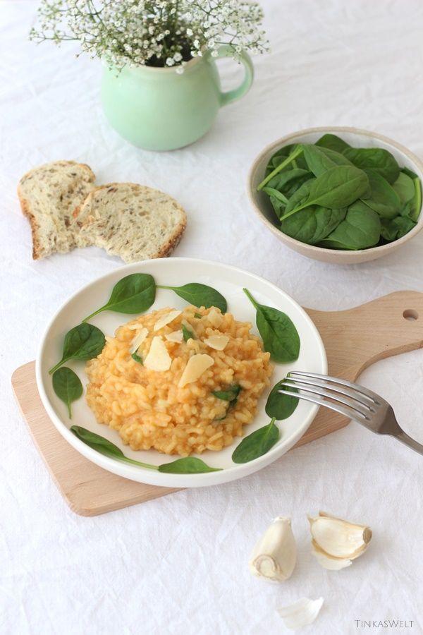 Saisongemüse Blattspinat - als Risotto und Salat (
