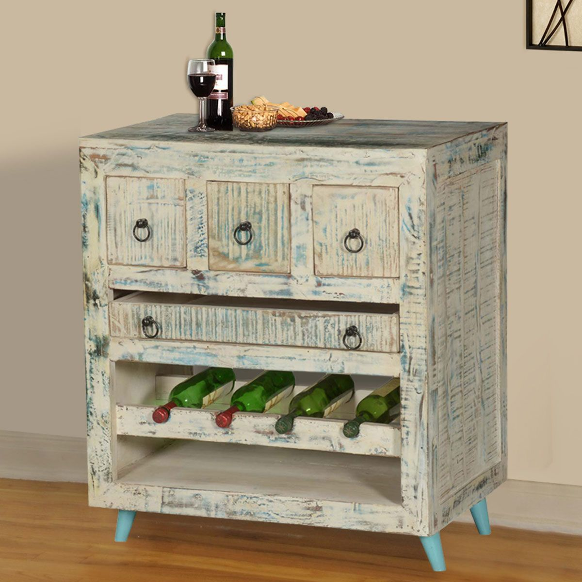 Sierra Living Concepts White Washed Reclaimed Wood Wine Rack Bar Cabinet Shop Home Decor Art Home Gorgeous Furniture Reclaimed Wood Wine Rack Rustic Farmhouse Furniture