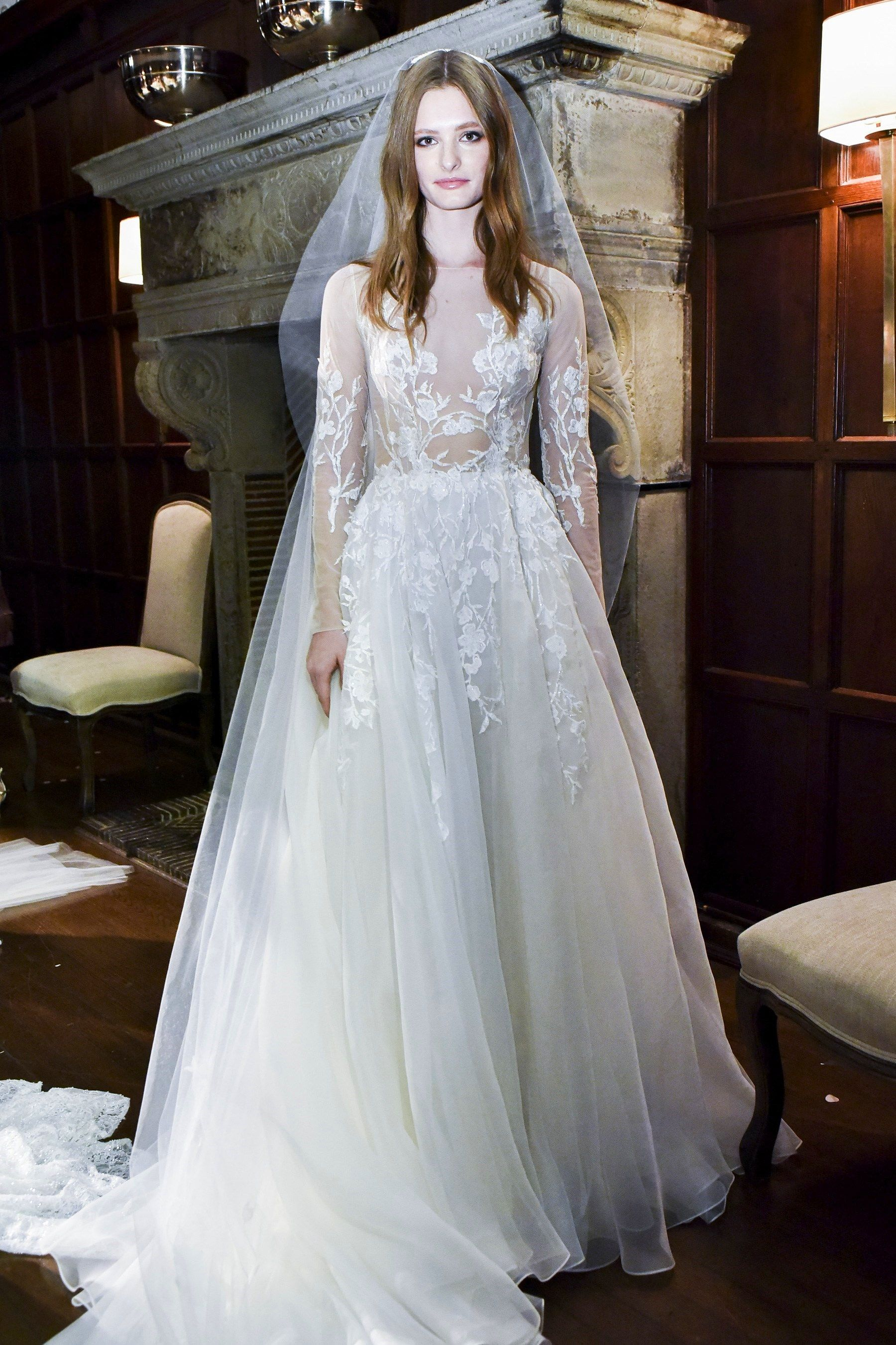 Braut kollektion Monique Lhuillier Herbst 2018