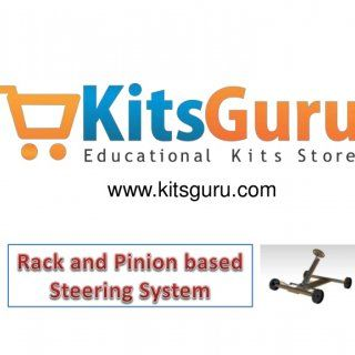 "www.kitsguru.com   In this kit ""Rack and pinion based steering system"", Rack-and-pinion steering is quickly becoming the most common type of steering on c. http://slidehot.com/resources/rack-and-pinion-based-steering-system-mechanical-project-kitsguru-com.26737/"