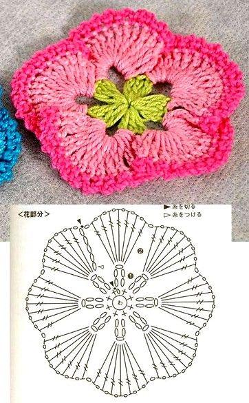 cuadrados-de-la-abuelita-de-ganchillo-11 Más   Flowers crochet ...