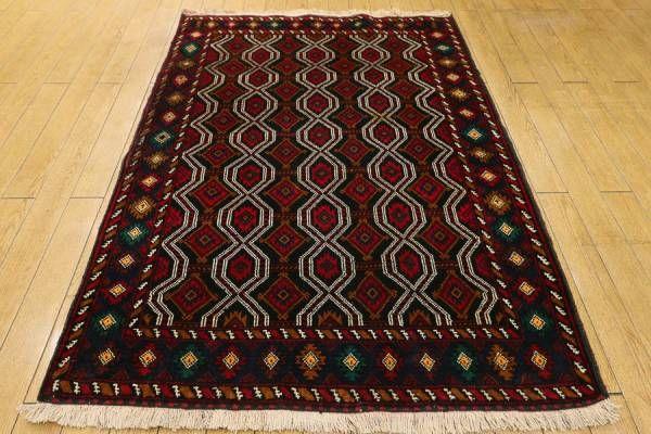 アフガン/ノマド/ラグ/バルーチ/手織り絨毯/95x134cm/GH2336_画像1